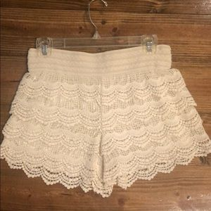 Pants - Tiered Lace Shorts